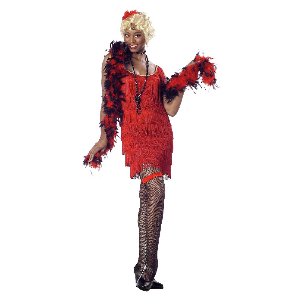 Flapper Womens Costume Red Large