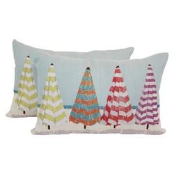 """Coastal Umbrellas Toss Throw Pillow 2 Pack (18""""x12"""") - Brentwood"""