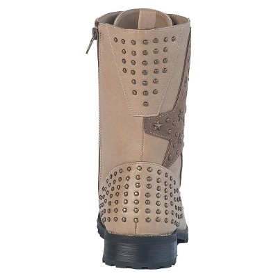 Women's Gia-Mia Combat Dance Boots - Taupe 9, Black