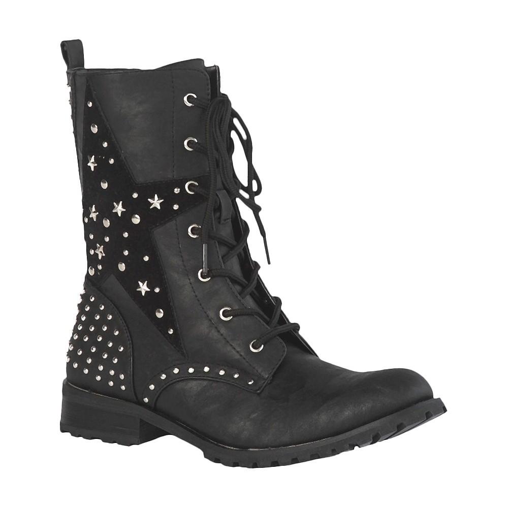 Womens Gia-Mia Combat Dance Boots - Black 7