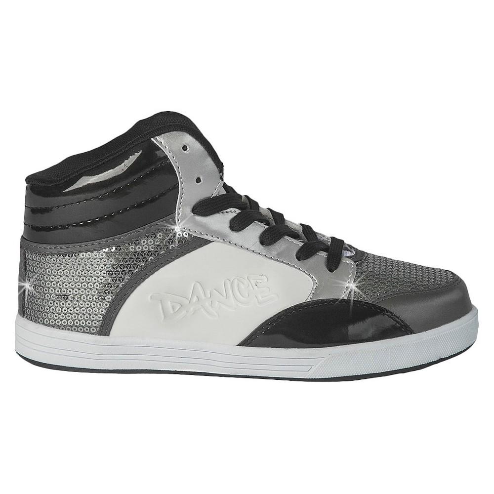 Womens Gia-Mia Dance Sneakers - Gray 5, Gray White