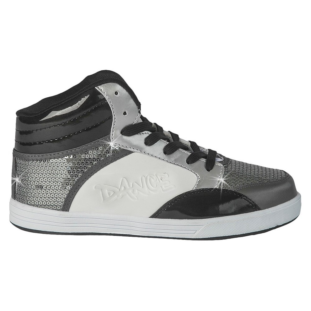 Womens Gia-Mia Dance Sneakers - Gray 12, Gray White