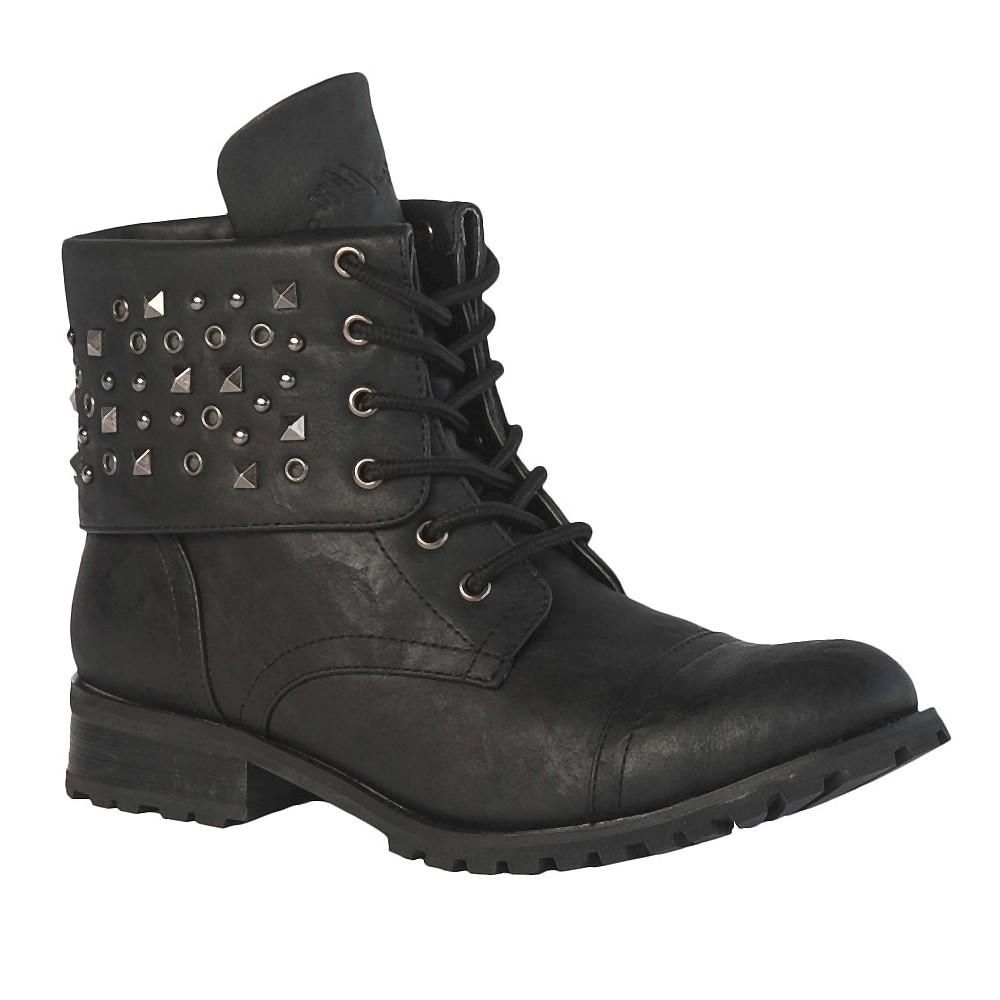 Women's Gia-Mia Combat Dance Boots - Black 5 plus size,  plus size fashion plus size appare