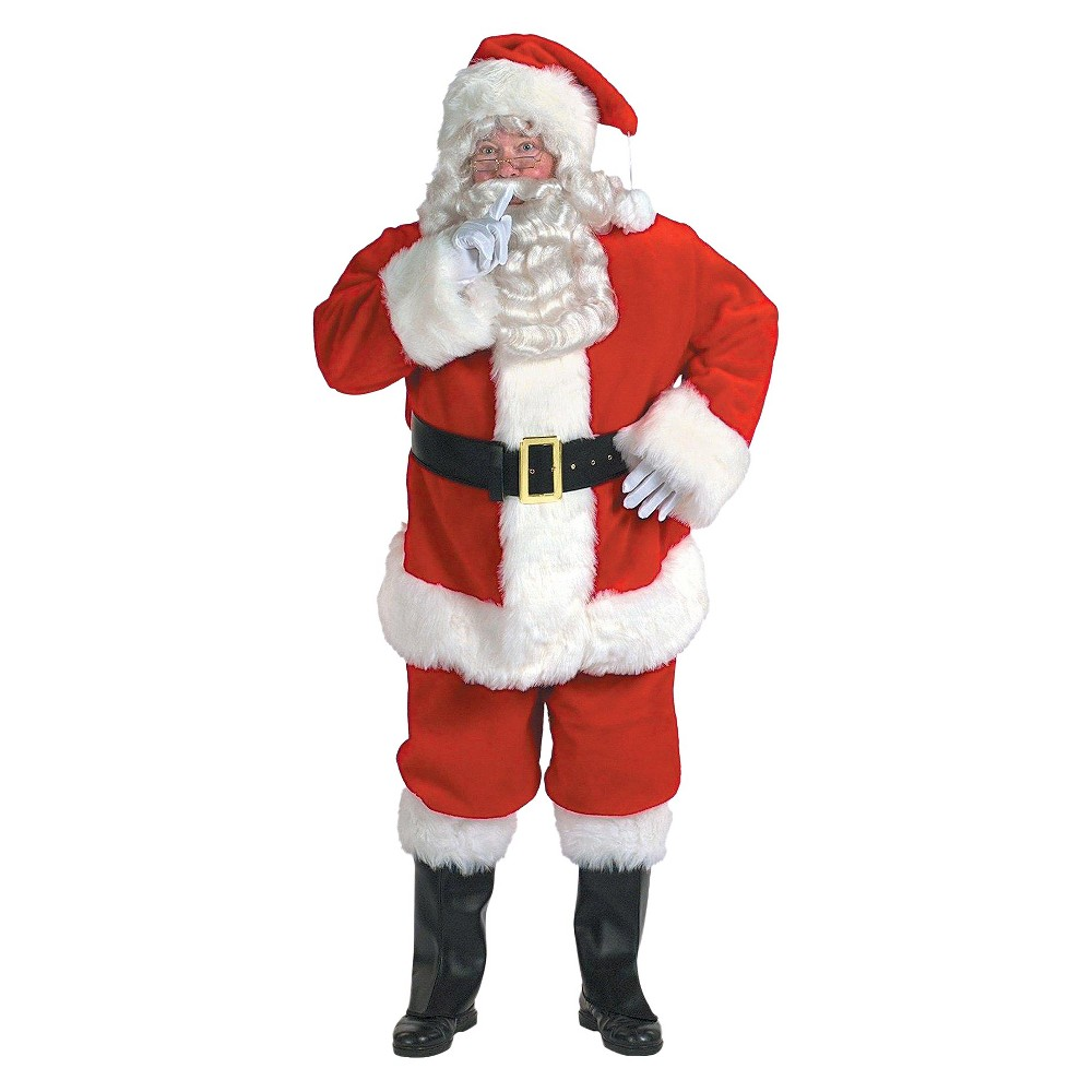 Adult Santa Claus Costume One Size Fits Most, Mens