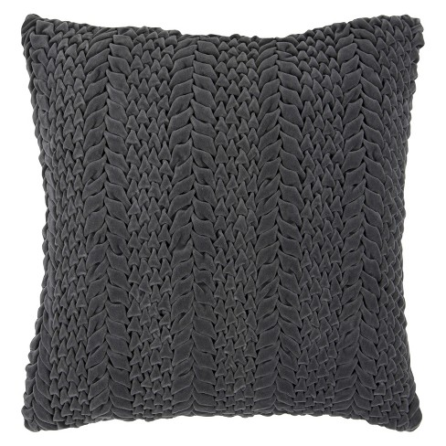 Velvet Cableknit Throw Pillow - Surya - image 1 of 2