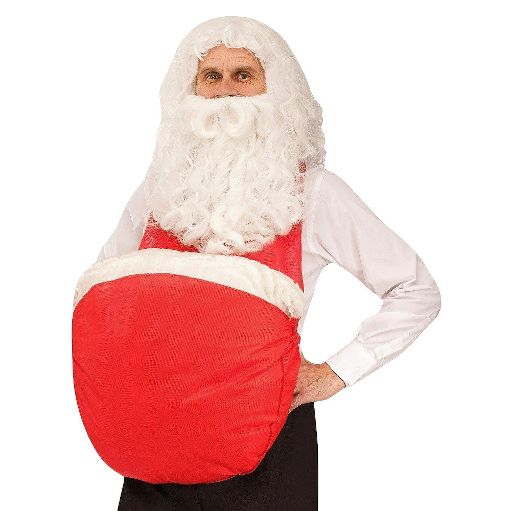 Mens Santa Belly Costume One Size Fits Most, Red