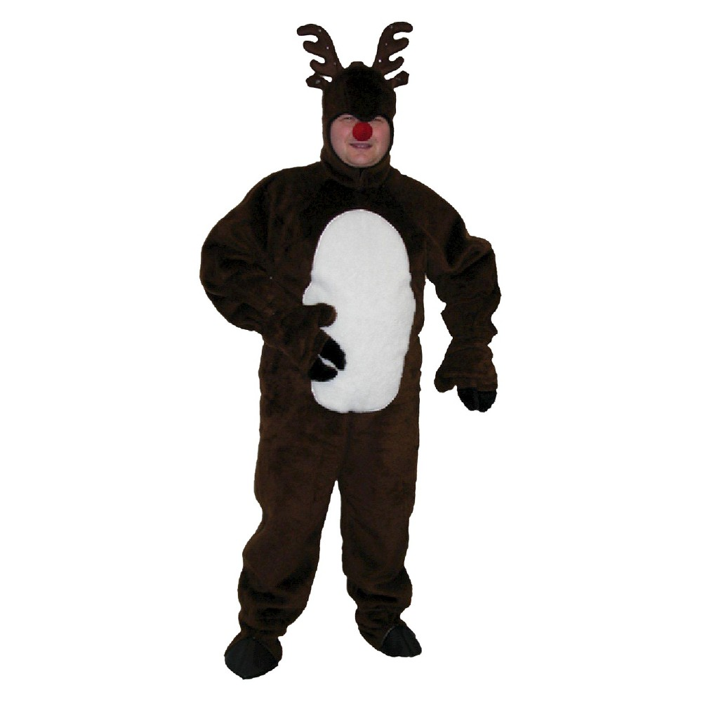 Mens Plush Rudolph the Red Nosed Reindeer Costume X-Large, Size: XL