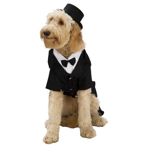 Dapper Dog Pet Costume - M, Black