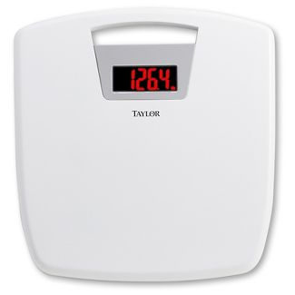Taylor Digital 1.2 LCD Antimicrobial Bathroom Scale White