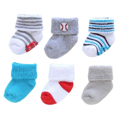 Just One You™ Made by Carter's® Baby Boys' 6pk Casual Socks - 0-3M