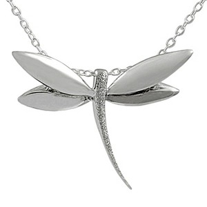 Tressa Collection Sterling Silver Dragonfly Necklace - 18, Women