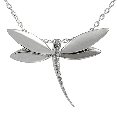 "Tressa Collection Sterling Silver Dragonfly Necklace - 18"" - image 1 of 4"