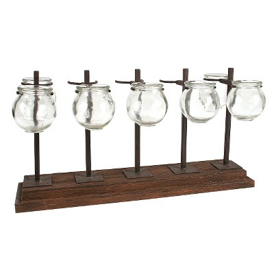 Metal Vase/Votive Holder - Brown