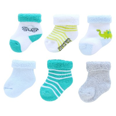 Just One You™ Made by Carter's® Baby Boys' 6pk Dino and Car Socks - 0-3M