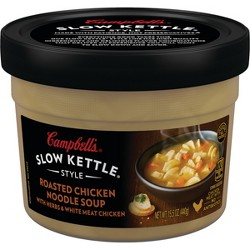 Campbell's® Slow Kettle® Style Roasted Chicken Noodle with Herbs Soup Microwaveable Bowl 15.5 oz