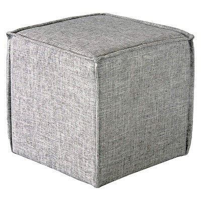 French Seam Square Pouf Pumice Gray Imports - Skyline Furniture®