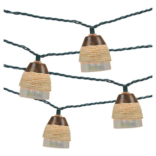 10ct Indoor/Outdoor String Light- Plastic Iridescent Cover With Rope - Threshold : Target