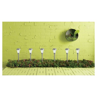 6pk Solar Outdoor Pathway Lights - Silver - Room Essentials™