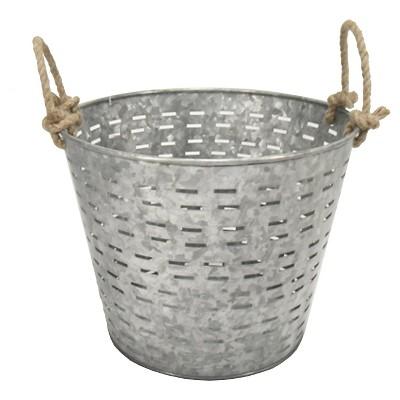 Galvanized Garden Basket - Threshold™
