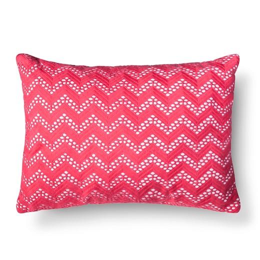 Coral Chevron Net Throw Pillow - Xhilaration : Target