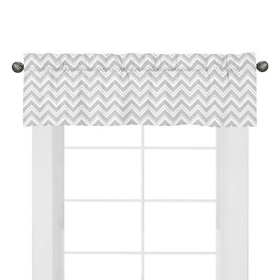 sweet jojo designs chevron zig zag window valance whitegray