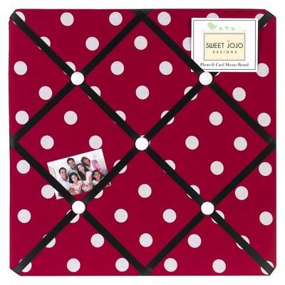 Sweet Jojo Designs Photo Memo Board (13 x13 )- Polka Dot Ladybug