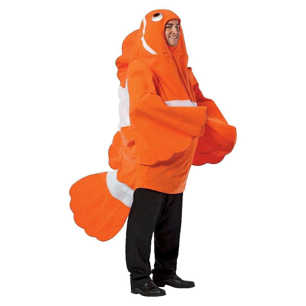 Clown Fish Adult Costume One Size Fits Most, Adult Unisex, Orange