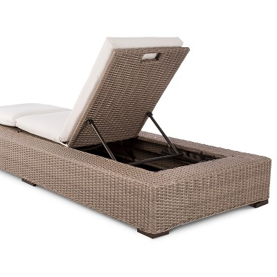 Premium Edgewood Wicker Patio Chaise Lounge Smith Hawken Target