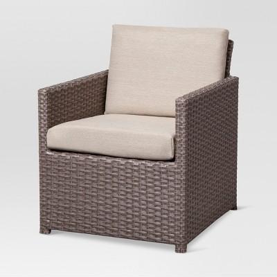 Heatherstone Wicker Kids Patio Accent Chair - Tan - Threshold™