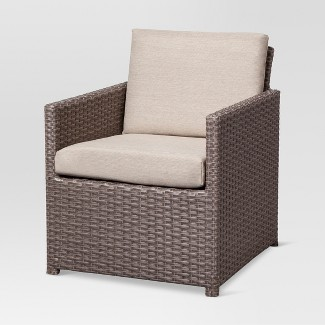 heatherstone wicker patio club chair - threshold™ : target