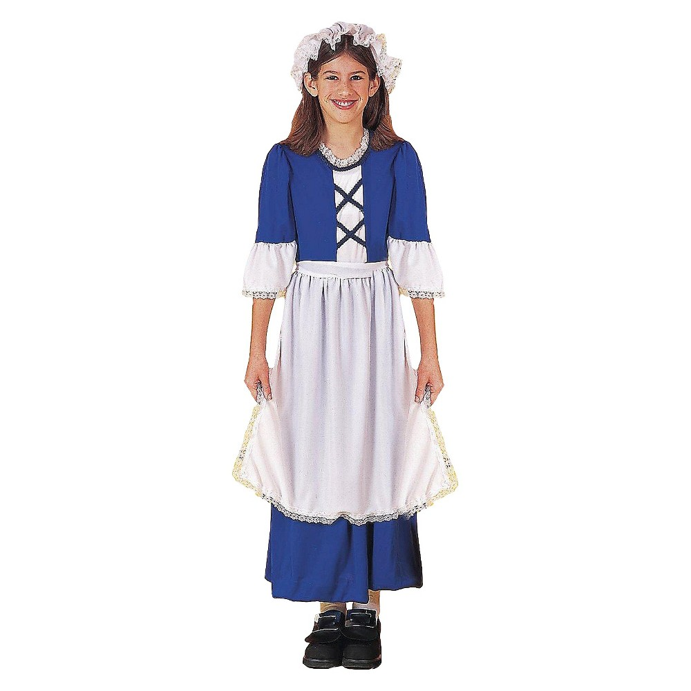 Girls Little Colonial Miss Costume - S(4-6), Variation Parent