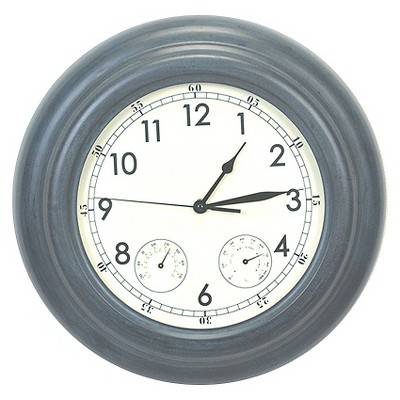 Medium Outdoor Clock Zinc - Threshold™