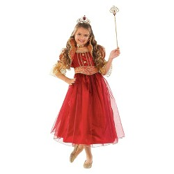 Girls' Princess Costume Red and Gold