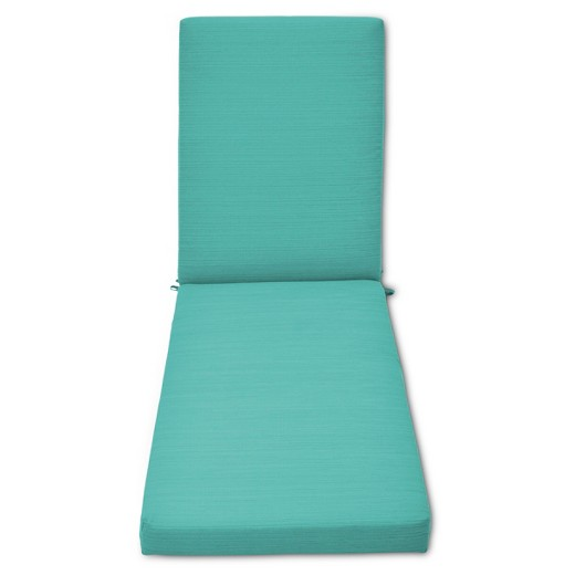 Heatherstone outdoor chaise lounge cushion turquoise for Blue chaise lounge cushions