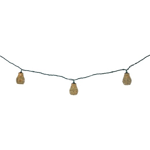 10ct Indoor/Outdoor String Light-Sea Grass Cover - Threshold : Target