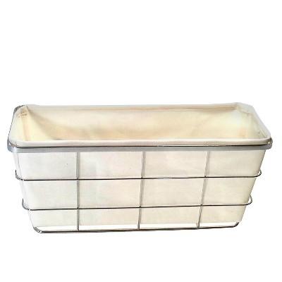Toilet Tank Bath Basket with Linen Insert Chrome - Threshold™