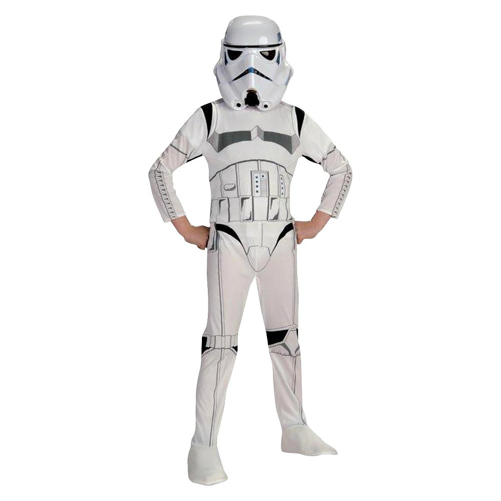 Star Wars Stormtrooper Kids Costume Small (4-6), Kids Unisex, Size: S(4-6), White