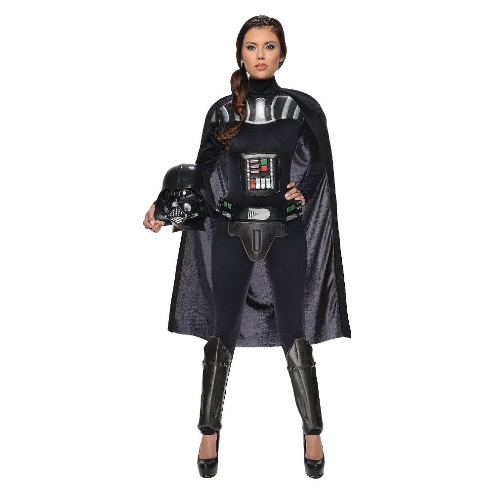 Star Wars Darth Vader Womens Bodysuit Costume Medium, Black