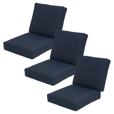 Belvedere 6pc Outdoor Replacement Patio Sofa Cushion Set - Navy - Threshold™