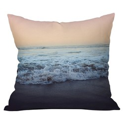 Gray Dusk Crash Into Me Throw Pillow - Deny Designs®