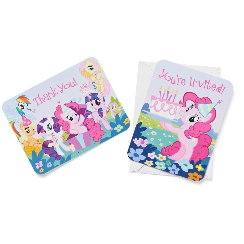 My Little Pony Invitation and Thank You Card Pack