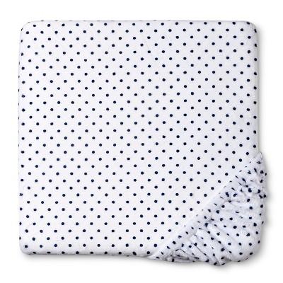 Circo™ Plush Sheet - Navy Dot