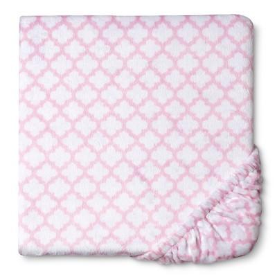 Circo™ Plush Sheet - Pink Geo