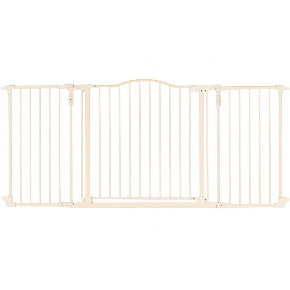 North States Industries Deluxe Décor Baby Gate, Neutral