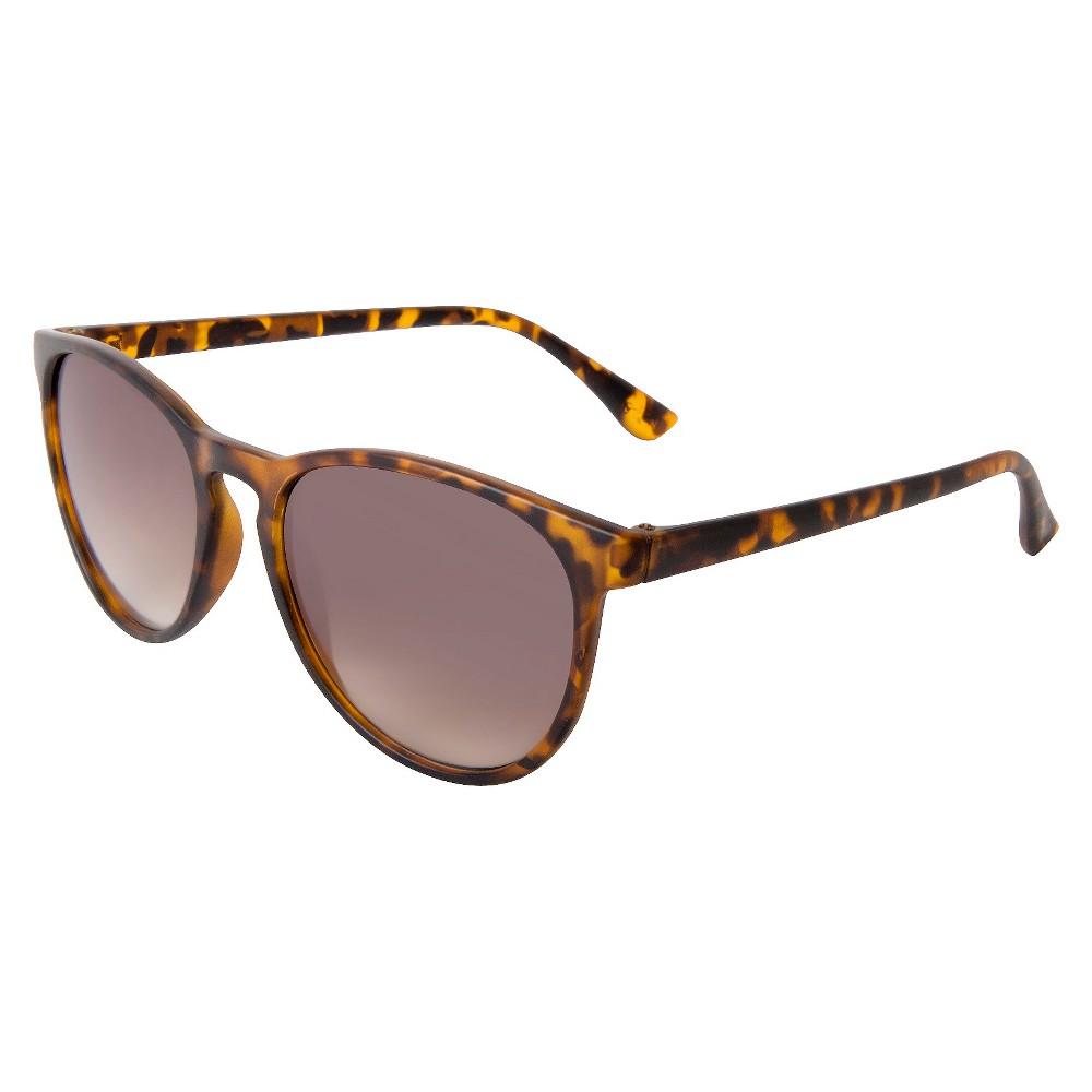 Womens Round Sunglasses- Tortoise, Brown