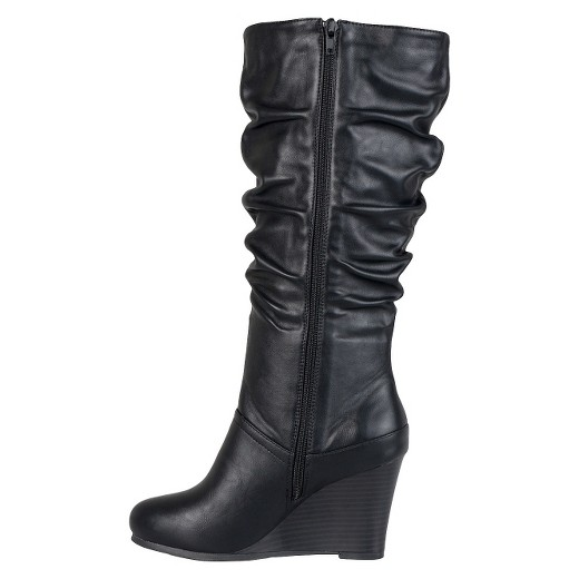 s journee collection slouchy wedge boots black 10