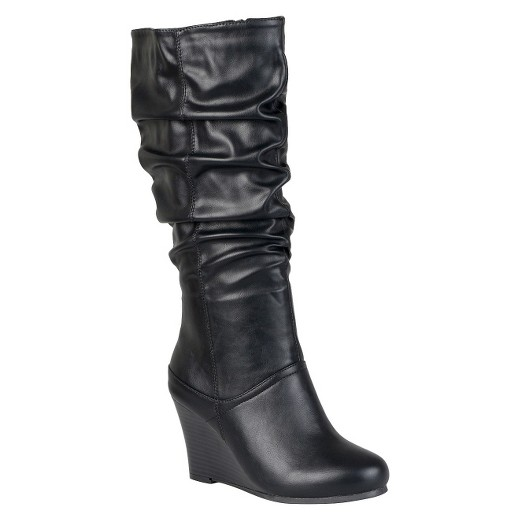 Women's Journee Collection Slouchy Wedge Boots : Target