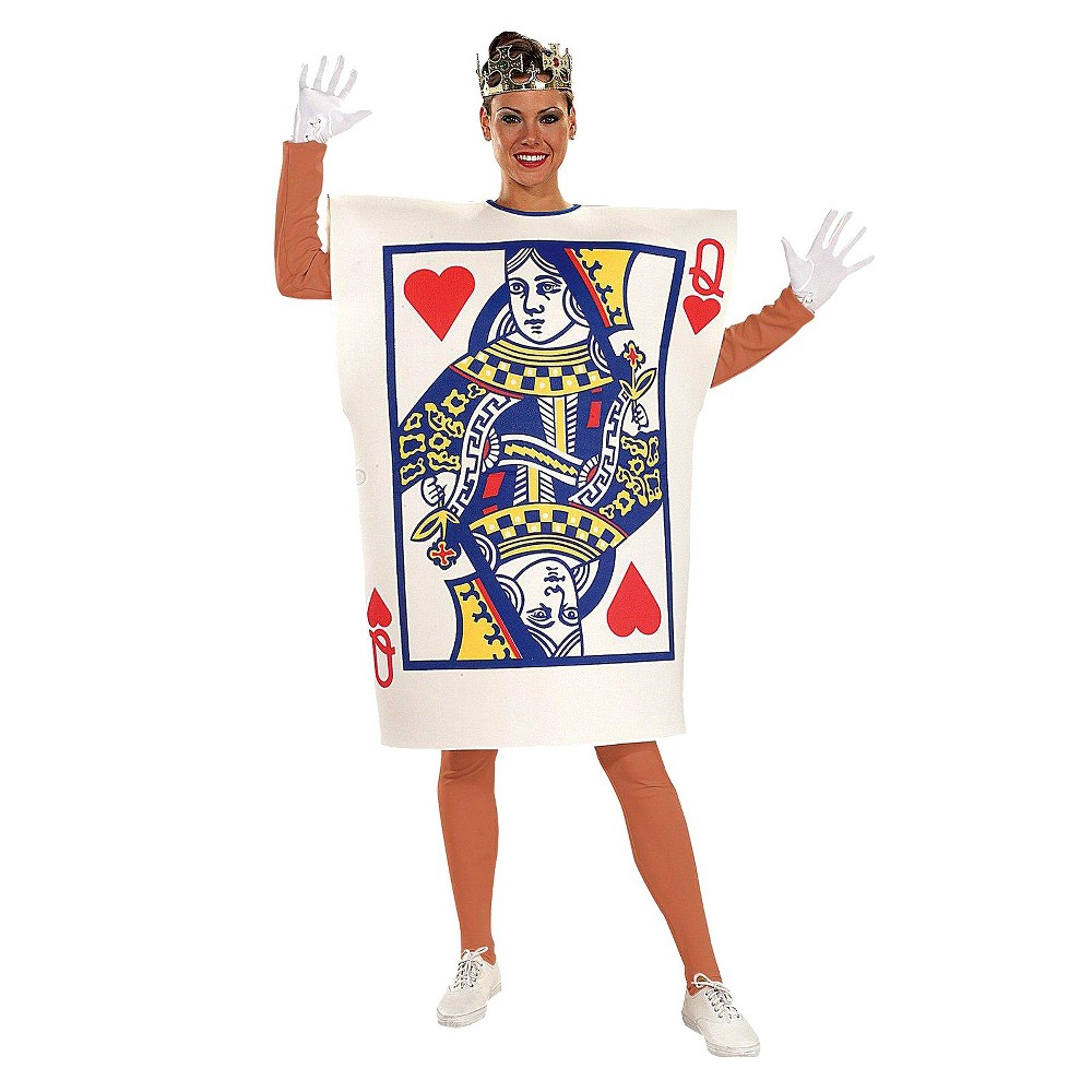Queen of Hearts Womens Card Costume, Multi-Colored