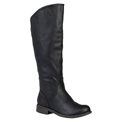 Women's Journee Collection Slouchy Round Toe Boots - Black 8