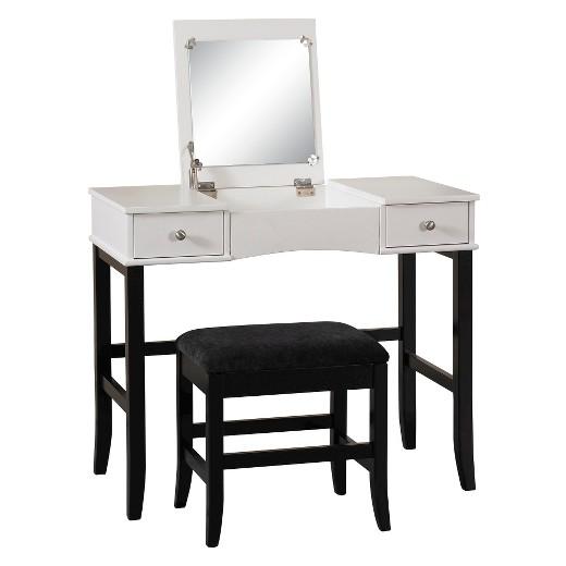 vanity blackwhite linon home decor - Linon Home Decor
